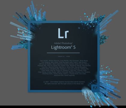 Lightroom splash screen
